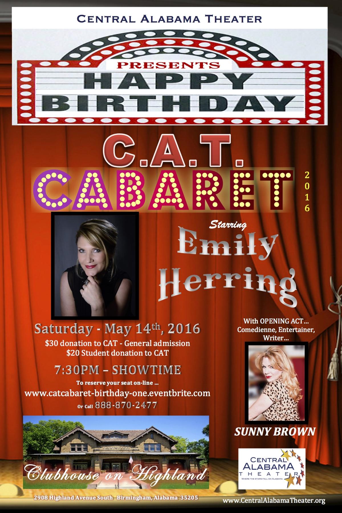 CAT CABARET -POSTCARD 4X6 One Year
