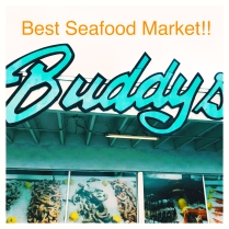 No trip to the Gulf Coast is complete without a visit to Buddy's Seafood Market for the most delicious steamed fresh shrimp, potatoes and corn-on-the-cob!