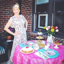 Your Tea Party hostess with the mostest! :) I got this cute spring floral maxi dress from Steinmart.